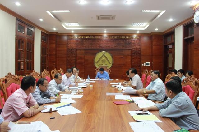 Họp bàn về Đề án điều chỉnh, bổ sung quy hoạch phát triển khu công nghiệp tỉnh đến năm 2020