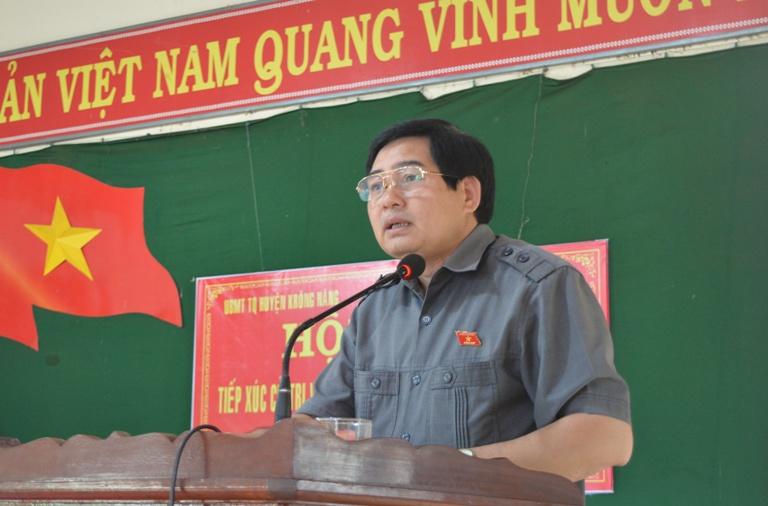 Đại biểu Quốc hội tỉnh tiếp xúc cử tri tại huyện Krông Năng.