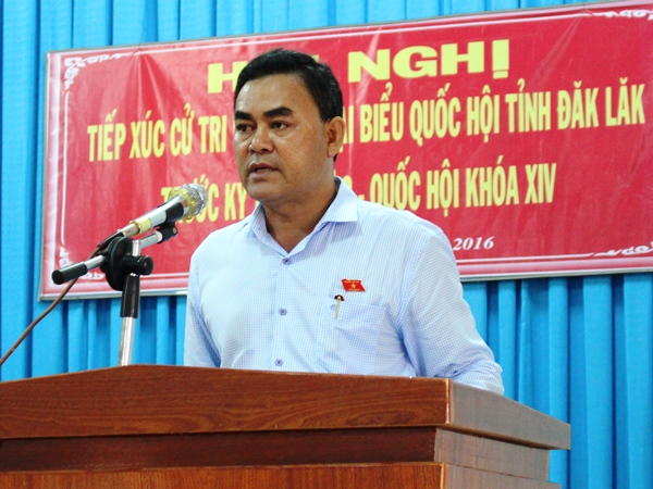Đoàn Đại biểu Quốc hội tỉnh tiếp xúc cử tri tại huyện Krông Pắk