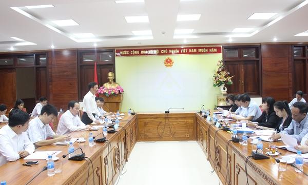 Đoàn công tác của Bộ Tư pháp thăm và làm việc với UBND tỉnh