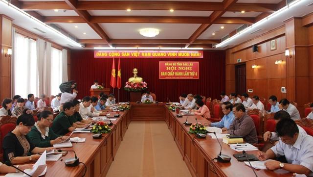 Hội nghị Ban Chấp hành Đảng bộ tỉnh lần thứ 6