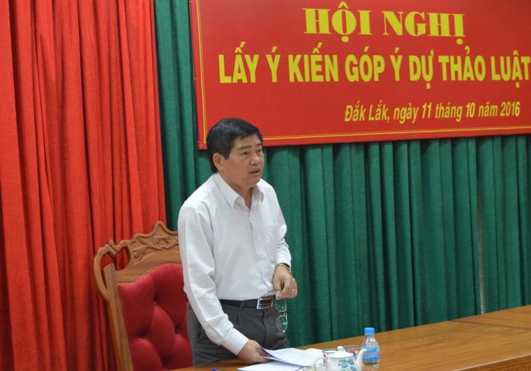 Hội nghị lấy ý kiến góp ý dự thảo Luật.