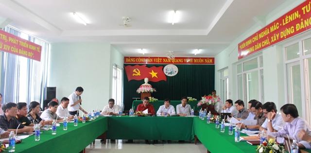 Đoàn công tác  của Thường trực Tỉnh uỷ khảo sát và làm việc tại huyện Lắk.
