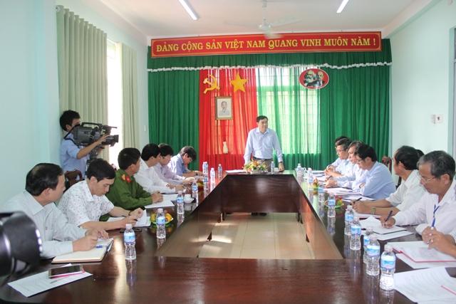 Thường trực Tỉnh ủy kiểm tra thực tế tại phường An Bình, thị xã Buôn Hồ