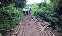 Hỗ trợ kinh phí để thanh toán vốn đầu tư công trình sửa chữa cầu thôn 16, xã Ea Bar, huyện Buôn Đôn.