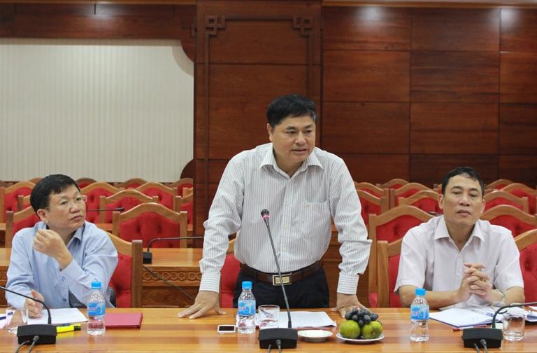 UBND tỉnh làm việc với Đoàn công tác tỉnh Nam Định về tình hình di dân đi xây dựng vùng kinh tế mới tại tỉnh.