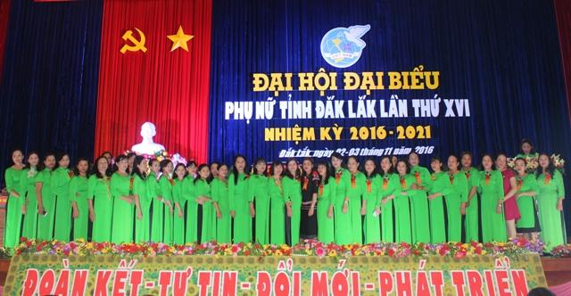 Đại hội đại biểu phụ nữ tỉnh Đắk Lắk lần thứ XVI, nhiệm kỳ 2016-2021.