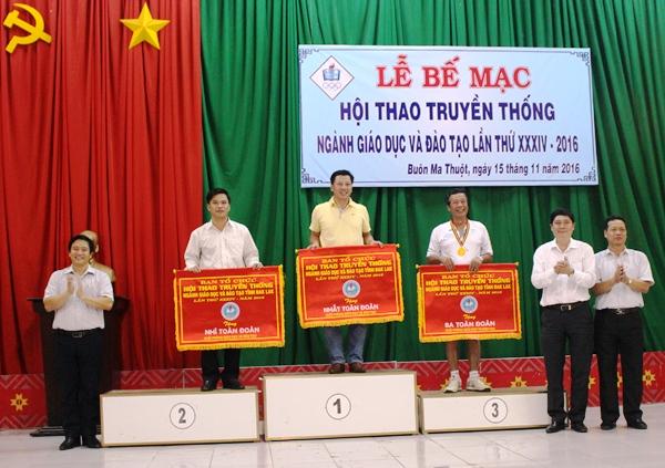 Bế mạc Hội thao truyền thống Ngành Giáo dục và Đào tạo tỉnh Đắk Lắk lần thứ 34 năm 2016