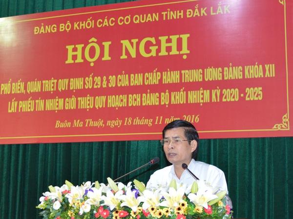 Đảng bộ Khối các cơ quan tỉnh quán triệt một số quy định của Ban chấp hành Trung ương Đảng khóa XII