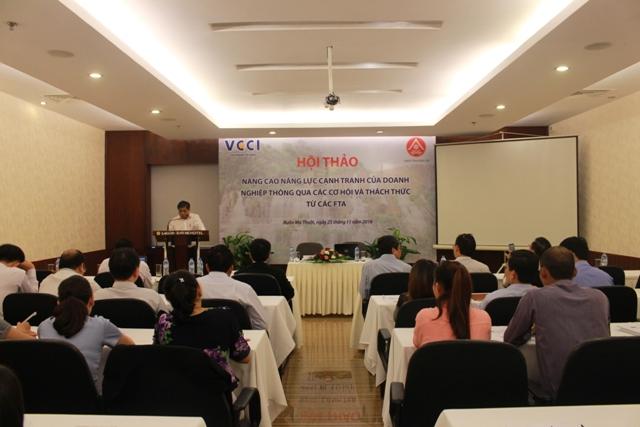 Hội thảo nâng cao năng lực cạnh tranh của doanh nghiệp thông qua các cơ hội và thách thức từ các FTA