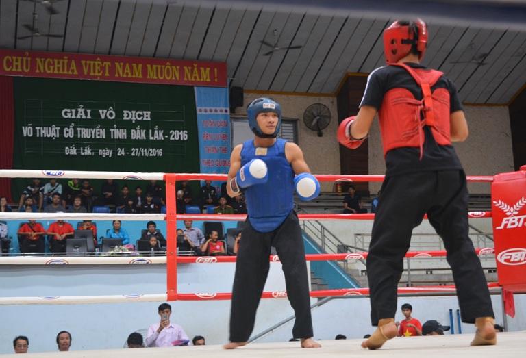 160 vận động viên dự tranh Giải vô địch Võ thuật cổ truyền tỉnh Đắk Lắk năm 2016.