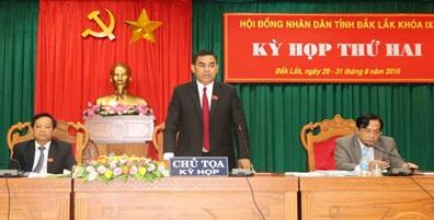 Kỳ họp thứ Ba, HĐND tỉnh Đắk Lắk khóa IX, nhiệm kỳ 2016 – 2021