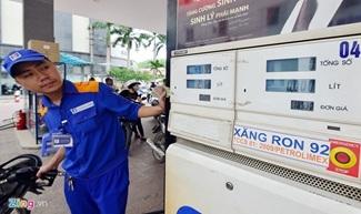 Giá xăng tăng 304 đồng/lít kể từ 19h