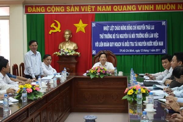 Giải quyết đề nghị của Liên đoàn Quy hoạch và Điều tra Tài nguyên nước miền Nam