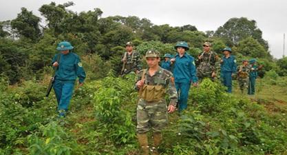 Kiện toàn Tiểu đội dân quân thường trực tại các xã trọng điểm về quốc phòng, an ninh trên địa bàn tỉnh