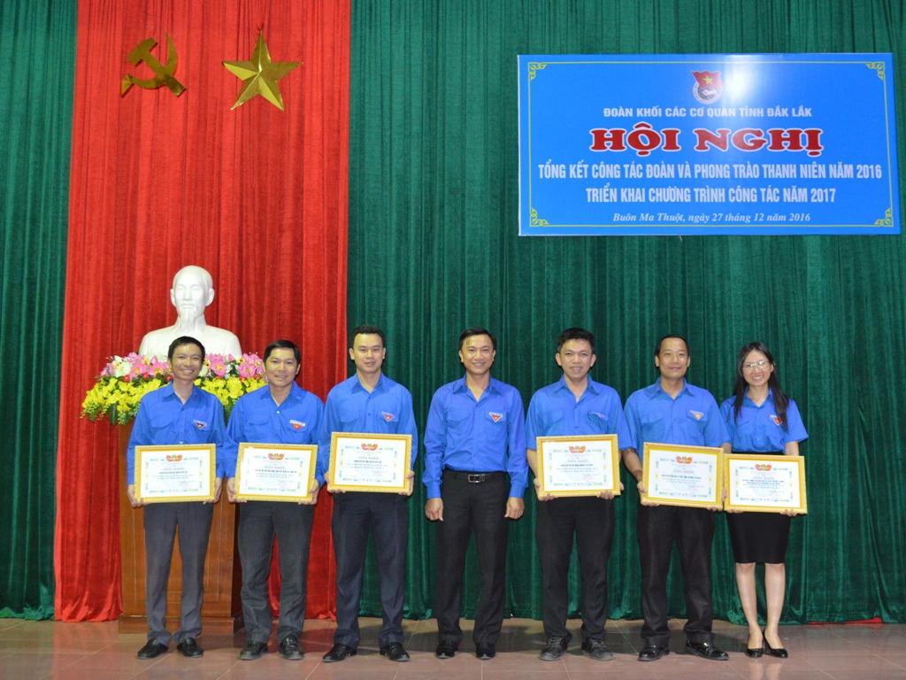 Đoàn Khối các cơ quan tỉnh tổng kết công tác đoàn và phong trào thanh niên năm 2016