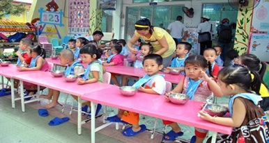 Bổ sung ngân sách có mục tiêu năm 2016 chi hỗ trợ tiền ăn trưa cho trẻ em mẫu giáo từ 3 đến 5 tuổi