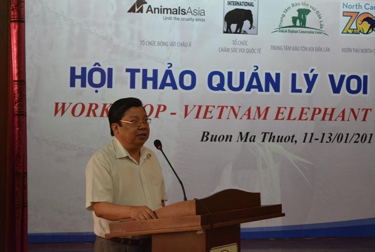 Thảo luận các giải pháp quản lý, bảo tồn voi Việt Nam.