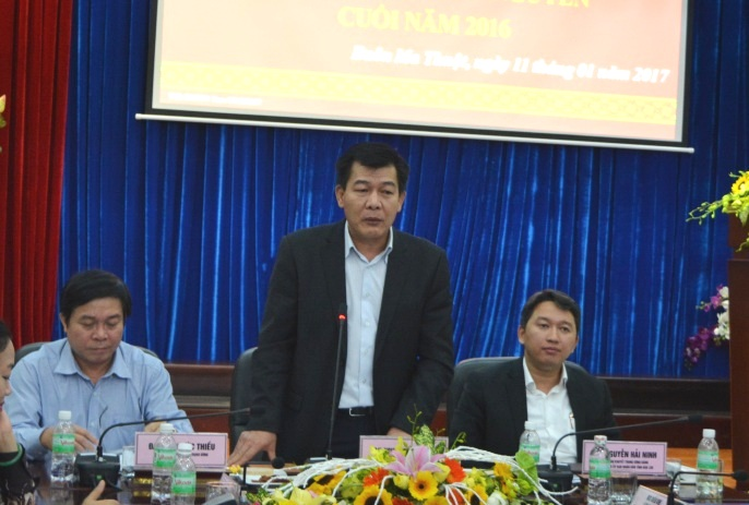 Hội nghị giao ban công tác báo chí khu vực Tây Nguyên cuối năm 2016.