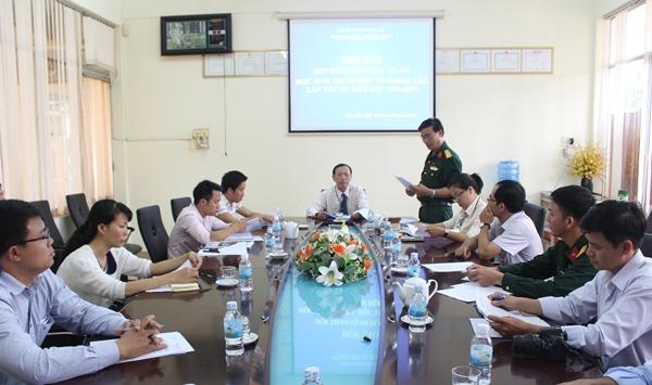 Họp báo về Hội thao Giáo dục quốc phòng – an ninh học sinh THPT tỉnh Đắk Lắk lần thứ IV, năm học 2016 – 2017