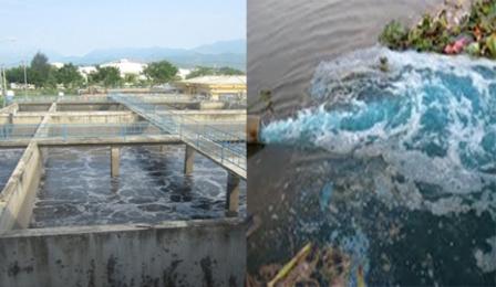Kiểm tra việc xả thải tại Cụm công nghiệp Tân An