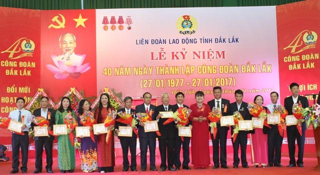 Kỷ niệm 40 năm Ngày thành lập Công đoàn Đắk Lắk