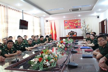 Tổng Bí thư Nguyễn Phú Trọng chúc Tết lực lượng Bộ đội Biên phòng.