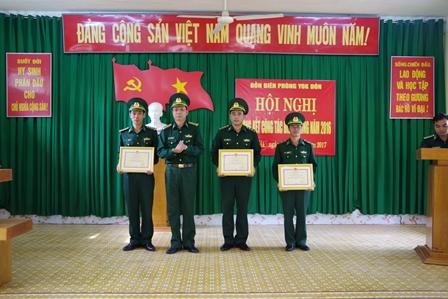 Các đơn vị trong Bộ đội Biên phòng tỉnh Đắk Lắk quyết tâm cao trong thực hiện nhiệm vụ năm 2017