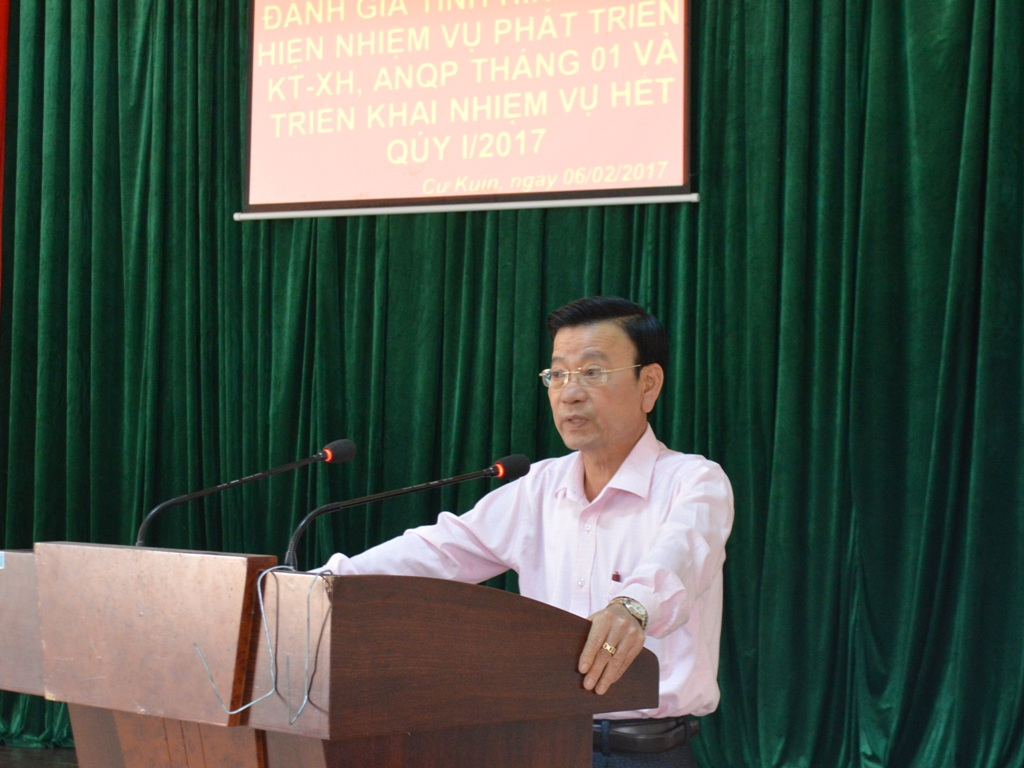 Huyện Cư Kuin: Thu cân đối ngân sách nhà nước tháng 01/2017 đạt 32,42%