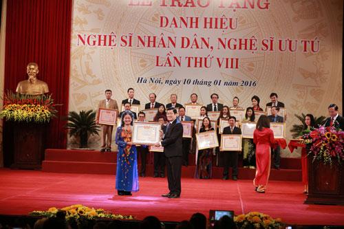 Xét thăng hạng đối với viên chức chuyên ngành nghệ thuật biểu diễn và điện ảnh được phong tặng danh hiệu Nghệ sĩ nhân dân, Nghệ sĩ ưu tú.