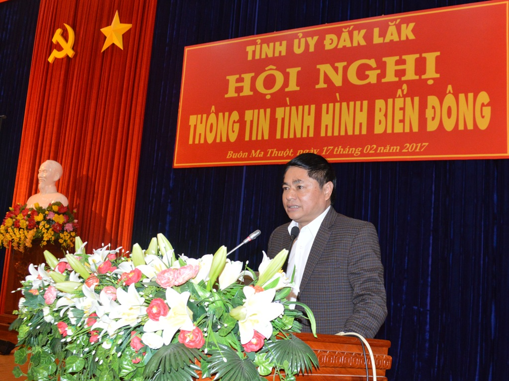 Hội nghị cán bộ chủ chốt thông tin về tình hình Biển Đông