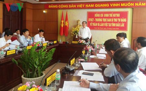 Tham mưu triển khai thực hiện một số Nghị quyết, Chỉ thị của Trung ương Đảng.