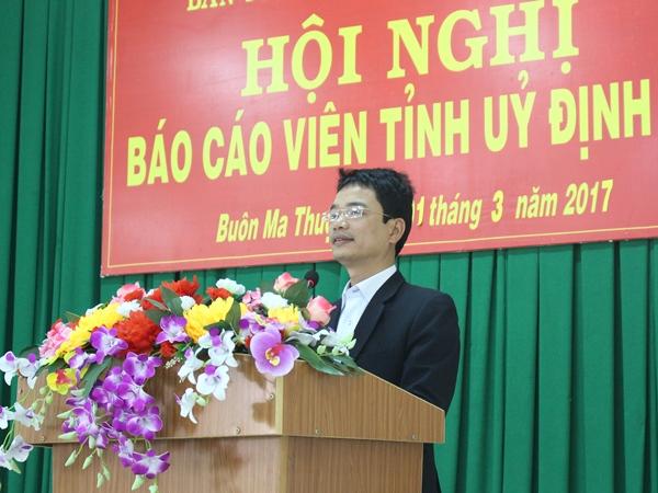 Hội nghị báo cáo viên Tỉnh ủy tháng 3/2017