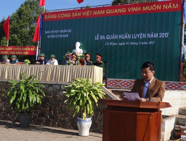 Ban CHQS huyện Cư M'gar: Tổ chức lễ ra quân huấn luyện năm 2017