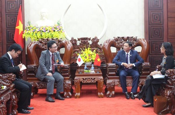 Chào xã giao Đoàn Tổng Lãnh sự Nhật Bản tại thành phố Hồ Chí Minh