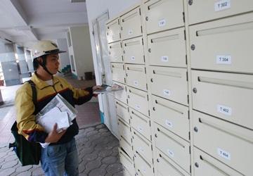 Lắp đặt hộp thư tập trung tại chung cư cao tầng, tòa nhà văn phòng.