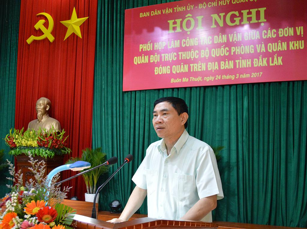 Hội nghị phối hợp làm công tác dân vận tham gia xây dựng nông thôn mới