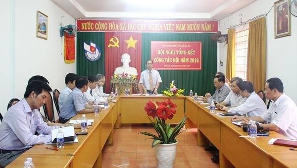Hội Nhà báo tỉnh tổng kết công tác năm 2016, triển khai nhiệm vụ năm 2017