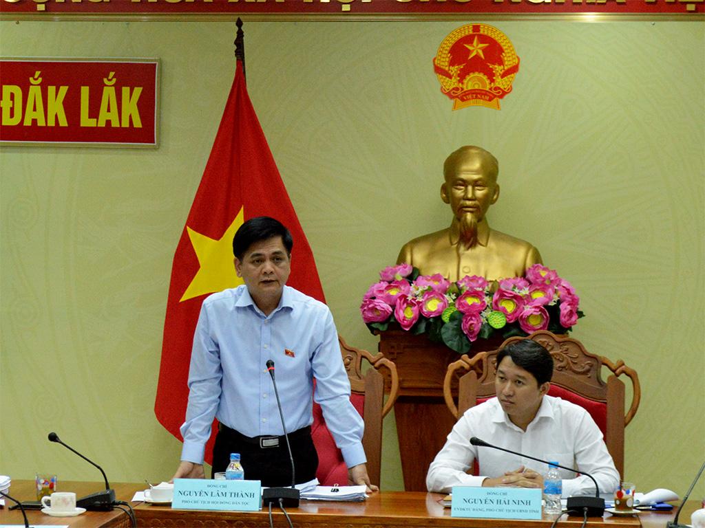 Đoàn giám sát của Hội đồng Dân tộc Quốc hội giám sát tại Đắk Lắk