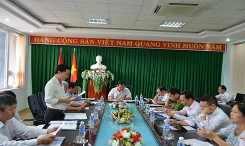 Thường trực Thành ủy Buôn Ma Thuột, giao ban khối Nội chính Quý I năm 2017