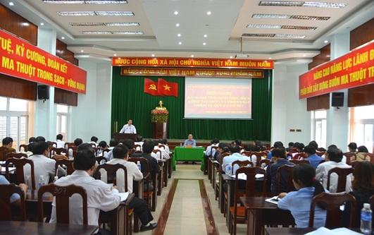 UBND thành phố Buôn Ma Thuột: Hội nghị đánh giá tình hình thực hiện công tác Quý I và triển khai nhiệm vụ trọng tâm Quý II/2017