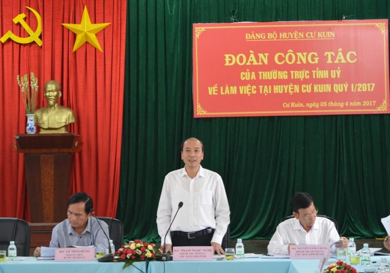 Huyện Cư Kuin phấn đấu trong năm 2017 có 1 xã đạt chuẩn nông thôn mới.