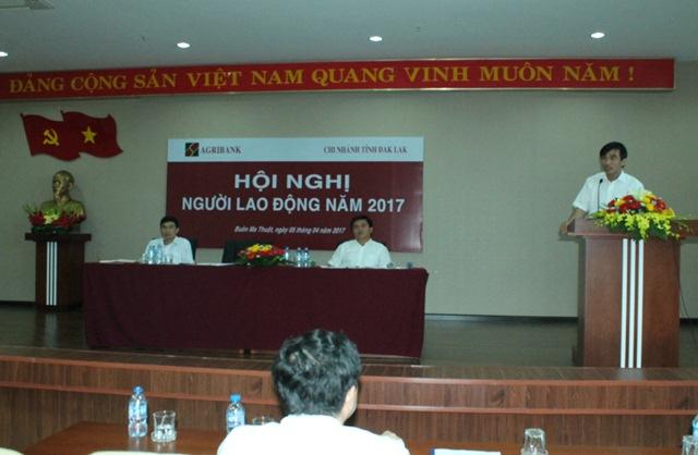 Agribank Đắk Lắk,  tổ chức Hội nghị người lao động năm 2017