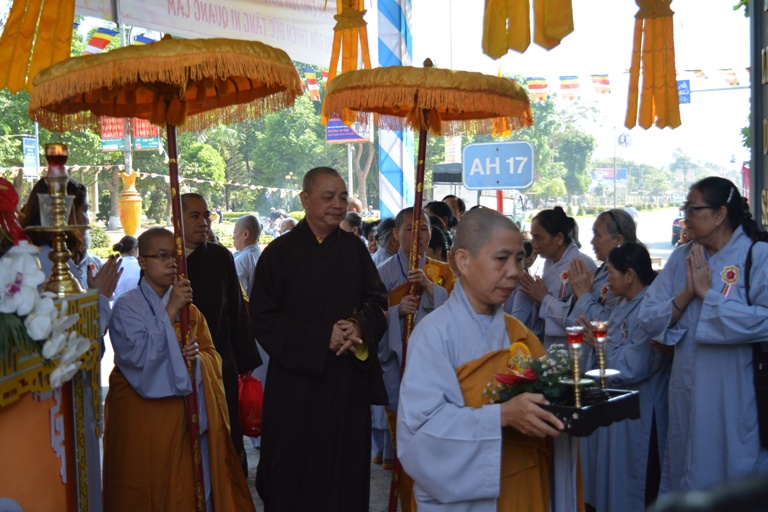 Lễ Khánh tạ và An vị Phật Chùa Tây Thiên, thành phố Buôn Ma Thuột.