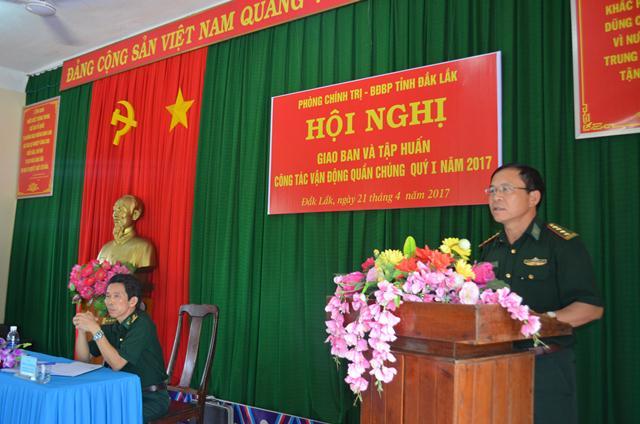 BĐBP Đắk Lắk triển khai công tác vận động quần chúng và tuyên truyền đặc biệt quý 2/2017.