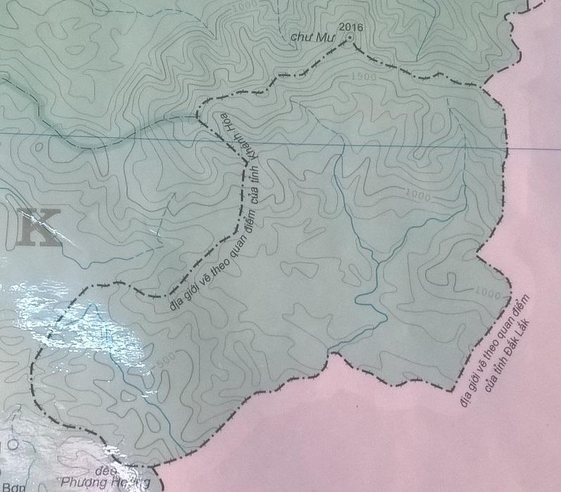 Báo cáo làm việc Bộ Nội vụ và hai tỉnh Đắk Lắk, Khánh Hòa về đường địa giới hành chính chưa thống nhất.