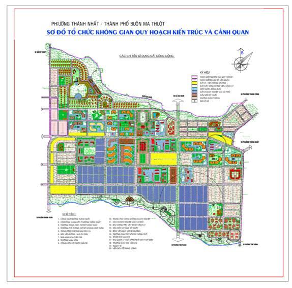 Điều chỉnh cục bộ Quy hoạch chi tiết xây dựng tỷ lệ 1/2.000 Khu đô thị mới trung tâm phường Thành Nhất, thành phố Buôn Ma Thuột.