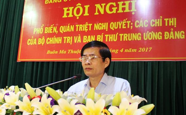 Hội nghị quán triệt Nghị quyết, Chỉ thị của Bộ Chính trị và Ban Bí thư Trung ương Đảng