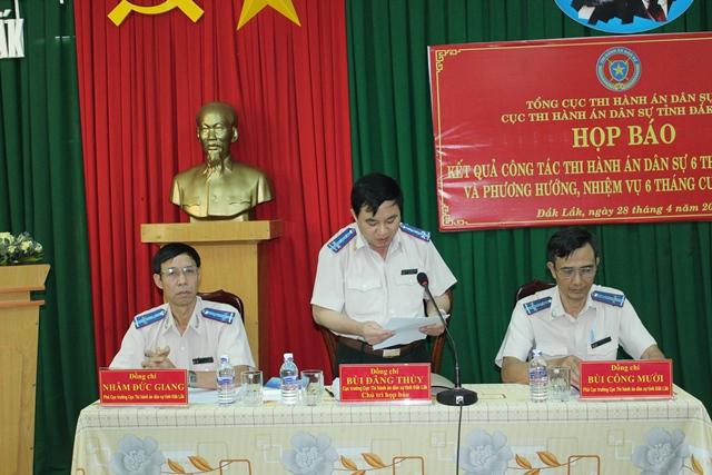 Cục Thi hành án dân sự tỉnh tổ chức họp báo 6 tháng đầu năm 2017