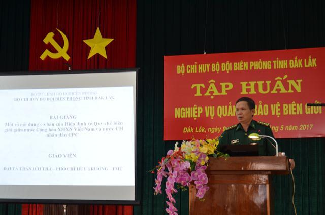 Bộ đội Biên phòng Đắk Lắk tập huấn nghiệp vụ quản lý bảo vệ biên giới.